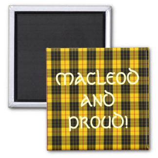 MacLeod Scottish Clan Tartan Magnet