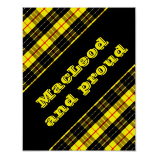 MacLeod Scottish Clan Tartan Poster