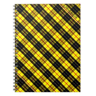 MacLeod Scottish Clan Tartan Spiral Notebook