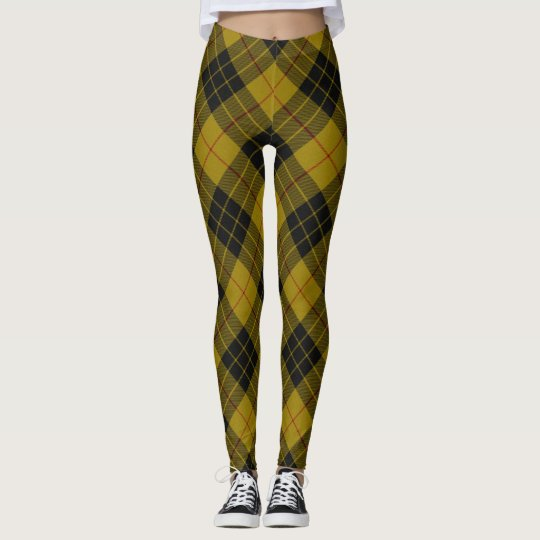 MacLeod tartan plaid Leggings