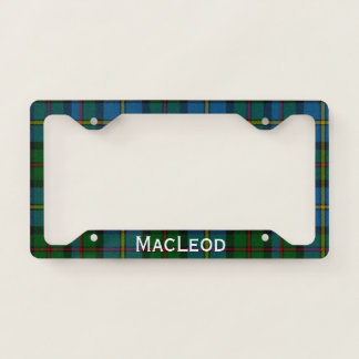 MacLeod Tartan Plaid License Plate Frame