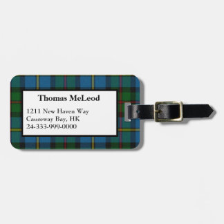 MacLeod Tartan Plaid Luggage Tag