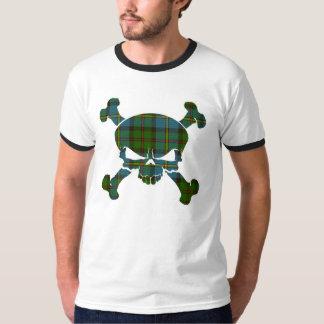 MacLeod Tartan Skull No Banner T-Shirt