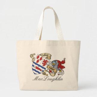 MacLoughlin O Melaghlin Family Crest Bag
