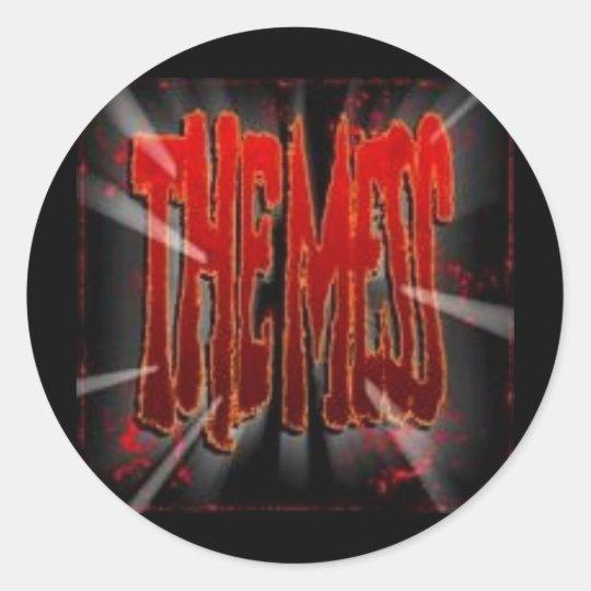 macmess classic round sticker