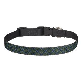 MacMillan Clan Green and Blue Hunting Tartan Pet Collar