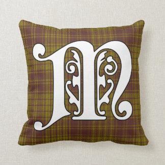 MacMillan Clan Tartan Monogram Throw Pillow