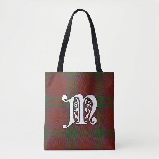 MacNab Clan Tartan Monogram Tote Bag