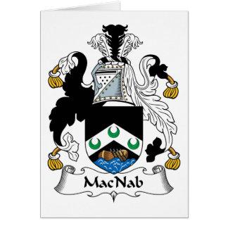 MacNab Family Crest Card