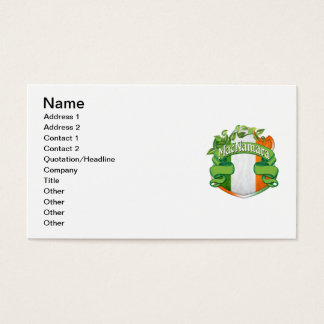 MacNamara Irish Shield Business Card