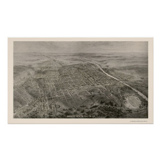 Macon, GA Panoramic Map - 1912 Poster
