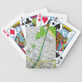Macon, GA Vintage Map Bicycle Playing Cards