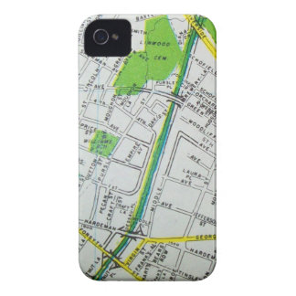 Macon, GA Vintage Map Case-Mate iPhone 4 Cases