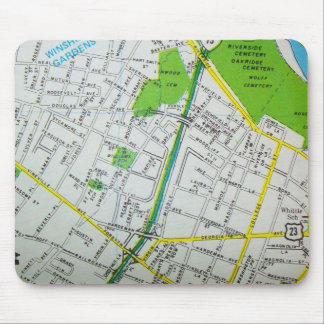 Macon, GA Vintage Map Mouse Pad