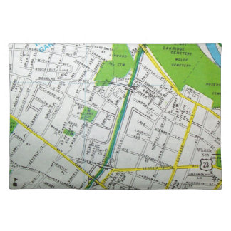 Macon, GA Vintage Map Placemat