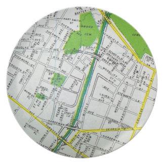 Macon, GA Vintage Map Plate