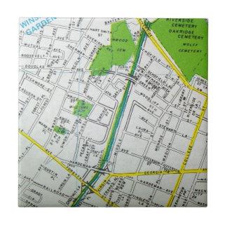 Macon, GA Vintage Map Tile