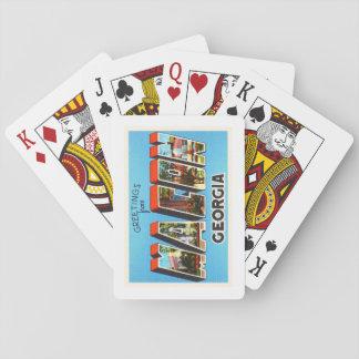 Macon Georgia GA Old Vintage Travel Souvenir Poker Deck