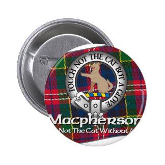 Macpherson Clan 2 Inch Round Button