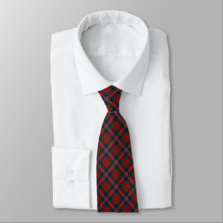 MacPherson Clan Tartan Red, Blue and Green Plaid Tie