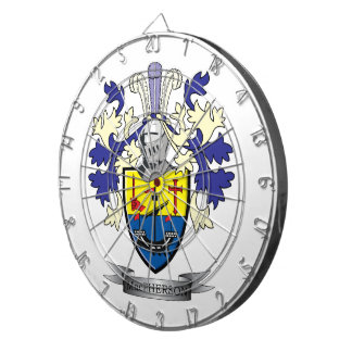 MacPherson Family Crest Coat of Arms Dart Board