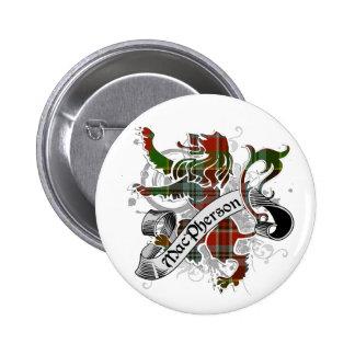 MacPherson Tartan Lion 2 Inch Round Button