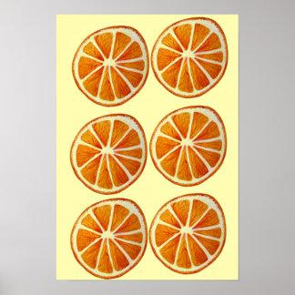 Macro art de bruit de fruit de tranche orange