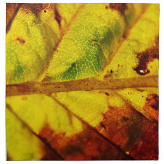 Macro Autumn Leaf Napkin