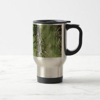 macro close up of cactus thorns travel mug