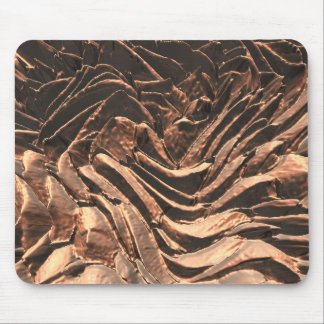 Macro Copper Abstract Mouse Pad