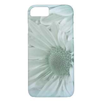 macro daisy in soft turquoise iPhone 8/7 case