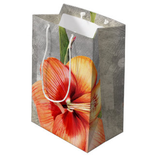 Macro flower Tiger Lily Medium Gift Bag