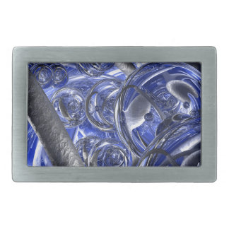Macro Glass And Steel Bands Belt Buckle