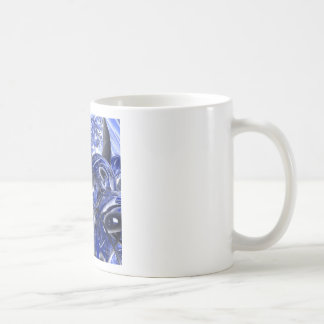 Macro Glass And Steel Bands Coffee Mug
