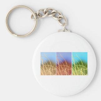 Macro Grass Trio Basic Round Button Keychain