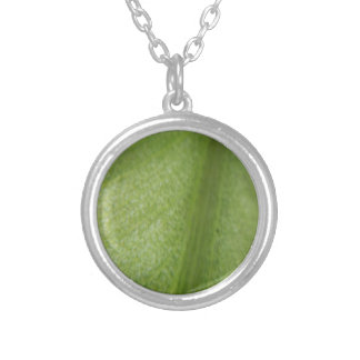 Macro Leaf Silver Plated Necklace