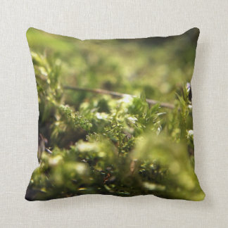 Macro Moss Throw Pillow