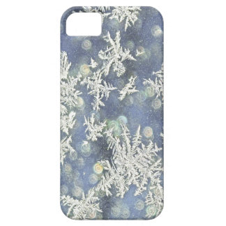 Macro Nature Photo of Frost on Blue Metal iPhone 5 Case