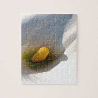 Macro of A Calla Lily With Shadows Jigsaw Puzzle