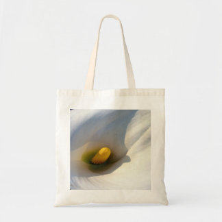 Macro of A Calla Lily With Shadows Tote Bag