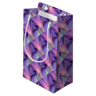 Macro of a Pale Liliac and Pink Morning Glory Small Gift Bag