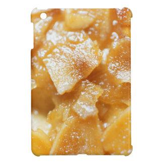 Macro of almond splitters on a cake case for the iPad mini