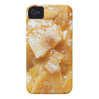 Macro of almond splitters on a cake iPhone 4 case