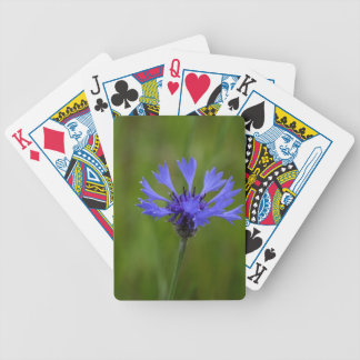 Macro photo of a cornflower (Centaurea cyanus) Bicycle Playing Cards