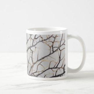Macro photo of a dry gorgonian coral. coffee mug