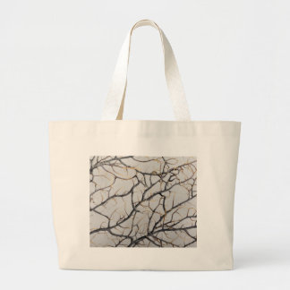 Macro photo of a dry gorgonian coral. large tote bag
