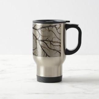 Macro photo of a dry gorgonian coral. travel mug