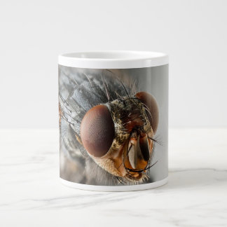 Macro photo of a fly large coffee mug