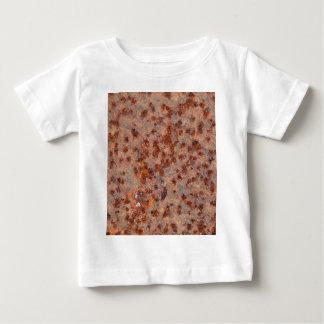 Macro photo of a rusty iron sheet. baby T-Shirt