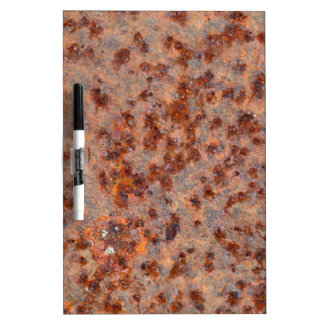 Macro photo of a rusty iron sheet. dry erase board